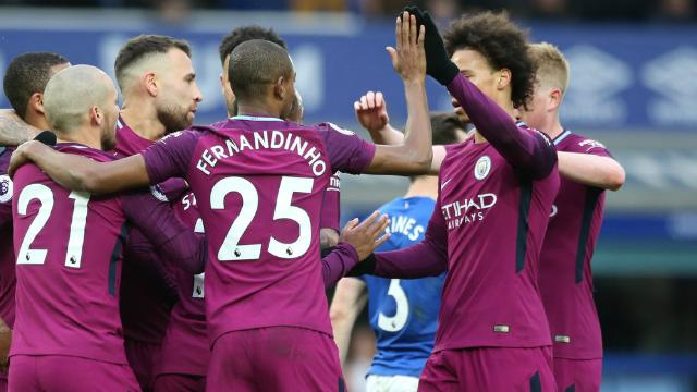 Report: Everton 1 Man City 3